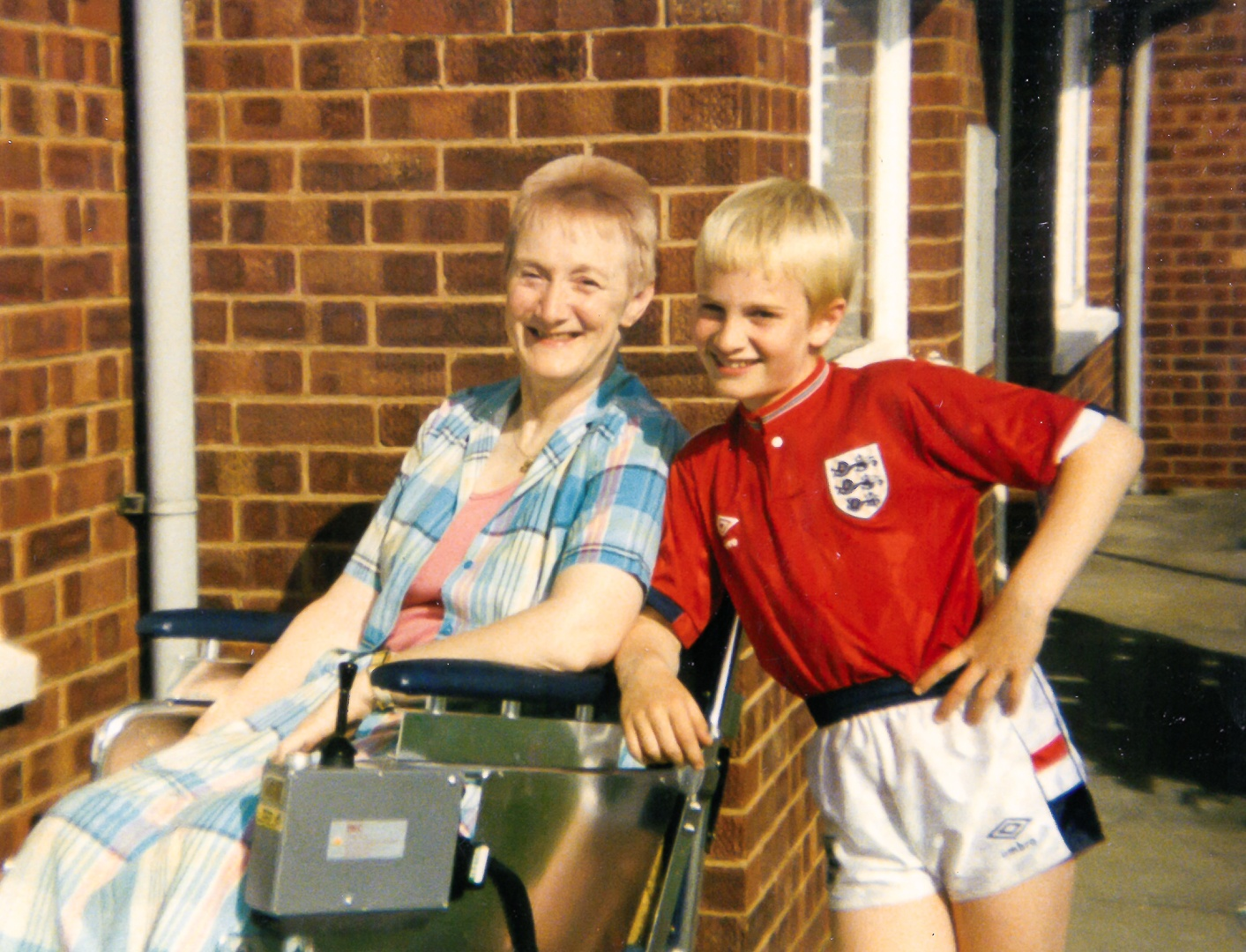 Alex Shaw, age 10, and his mum